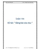 Báo cáo thực tập tốt nghiệp: Công tác văn thư - Công tác lưu trữ