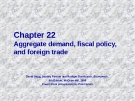 Chapter: Fiscal policy, and foreign trade