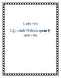 Lập trình Website quản lý sinh viên