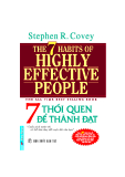 THE 7 HABITS OF HIGHLY EFFECTIVE PEOPLE - 7 THÓI QUEN ĐỂ THÀNH ĐẠT