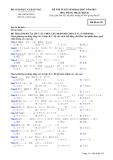 Đề thi và đáp án đề thi tuyển sinh đại học năm 2012 môn Tiếng Nhật khối D- Mã đề 193