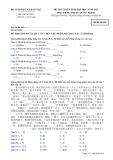 Đề thi và đáp án đề thi tuyển sinh đại học năm 2012 môn Tiếng Trung khối D- Mã đề 695