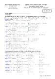 Đề thi và đáp án đề thi tuyển sinh đại học năm 2012 môn Tiếng Nhật khối D- Mã đề 617