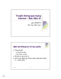 Bài giảng Truyền thông qua mạng Internet: Báo điện tử - GV. Cao Văn Trực