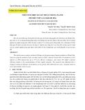 Báo cáo khoa học: Phân tích hiệu quả kỹ thuật trong ngành chế biến thủy sản Khánh Hòa