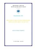 Luận văn thạc sỹ kinh tế: Phân tích những nhân tố vĩ mô ảnh hưởng đến chỉ số giá chứng khoán tại Việt Nam