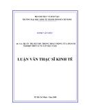 Luận văn thạc sỹ kinh tế: Quản trị rủi ro trong hoạt động của doanh  nghiệp nhỏ và vừa ở Việt Nam
