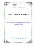 Luận văn thạc sỹ kinh tế: Phát triển sản xuất nguyên phụ liệu may mặc Việt Nam