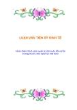 LUẬN VĂN TIẾN SỸ KINH TẾ:  Hoàn thiện chính sách quản lý nhà nước đối với thị trường thuốc chữa bệnh tại Việt Nam