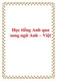 Học tiếng Anh qua song ngữ Anh – Việt