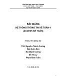 Hệ thống thông tin kế toán 4 (Access kế toán) - Trường ĐH Nha Trang