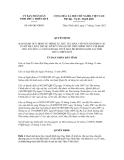 Quyết định số 849/QĐ-UBND