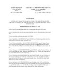 Quyết định số 13/2012/QĐ-UBND