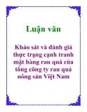 Luận văn: Khảo sát và đánh giá thực trạng cạnh tranh mặt hàng rau quả của tổng công ty rau quả nông sản Việt Nam