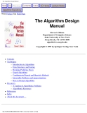 The Algorithm Design Manual Next: Preface Up  Main PageThe Algorithm Design ManualSteven