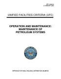UNIFIED FACILITIES CRITERIA (UFC)  OPERATION AND MAINTENANCE: MAINTENANCE OF PETROLEUM SYSTEMS