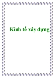 KInh tế xây dựng