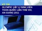 Kỳ thi Olympic Vật lý sinh viên toàn quốc lần thứ XIV An Giang 2011