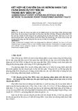 KẾT HỢP HỆ CHUYÊN GIA VÀ NƠRON NHÂN TẠO CHẨN ĐOÁN SỰ CỐ TIỀM ẨN TRONG MÁY BIẾN ÁP LỰC