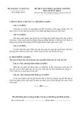 ĐỀ THI TUYỂN SINH CAO ĐẲNG NĂM 2012 MÔN LỊCH SỬ KHỐI  C