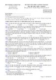 ĐỀ THI TUYỂN SINH CAO ĐẲNG NĂM 2012 MÔN HÓA HỌC KHỐI A VÀ KHỐI B - MÃ ĐỀ  425