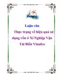 Luận văn: Thực trạng về hiệu quả sử dụng vốn ở Xí Nghiệp Vận Tải Biển Vinafco