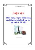Luận văn: Thực trạng và giải pháp nâng cao hiệu quả của kinh phí trợ giá buýt ở Hà Nội