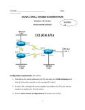 CCNA1 SKILL BASED EXAMINATION - Number 11