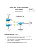 CCNA1 SKILL BASED EXAMINATION - Number 5