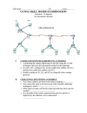 CCNA1 SKILL BASED EXAMINATION