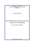 Luận văn: Hoàn thiện hệ thống xếp hạng tín dụng năm 2010 của Vietcombank