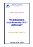 Luận văn Thạc sỹ Kinh tế: Phân tích ảnh hưởng của sự khác biệt giữa chuẩn mực kế toán Việt Nam với chuẩn mực kế toán quốc tế đến quyết định của nhà đầu tư