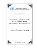 Luận văn: GIẢI PHÁP HẠN CHẾ RỦI RO TRONG ĐẦU TƯ TRÊN THỊ TRƯỜNG CHỨNG KHOÁN VIỆT NAM HIỆN NAY