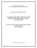 Luận văn: XÂY DỰNG MỨC KHẤU TRỪ GIA CẢNH TRONG THUẾ THU NHẬP CÁ NHÂN TẠI VIỆT NAM