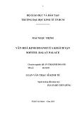 Luận văn: Văn hóa kinh doanh của khách sạn Sofitel Dalat Palace
