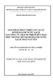 Đề tài: GIẢI PHÁP PHÁT TRIỂN SẢN XUẤT KINH DOANH NƯỚC SẠCH TẠI CÔNG TY TRÁCH NHIỆM HỮU HẠN MỘT THÀNH VIÊN KINH DOANH NƯỚC SẠCH THÁI NGUYÊN