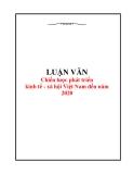 Đề tài: Chiến lược phát triển kinh tế - xã hội Việt Nam đến năm 2020