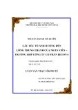 Đề tài: CÁC YẾU TỐ ẢNH HƯỞNG ĐẾN LÒNG TRUNG THÀNH CỦA NHÂN VIÊN – TRƯỜNG HỢP CÔNG TY CỔ PHẦN BETON 6