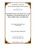 Đề tài: Giải pháp nâng cao năng lực cạnh tranh của Ngân hàng Đầu tư và phát triển Việt Nam