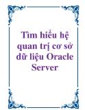 Tìm hiểu hệ quản trị cơ sở dữ liệu Oracle Server