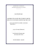 Đề tài: GIẢI PHÁP TĂNG NGUỒN THU TỪ DỊCH VỤ PHI TÍN DỤNG Ở CÁC NGÂN HÀNG THƯƠNG MẠI VIỆT NAM