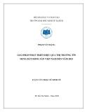 Đề tài: Giải pháp phát triển hiệu quả thị trường tín dụng bất động sản Việt Nam đến năm 2015