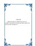Luận Văn CHÍNH SÁCH TIỀN TỆ - CHÍNH SÁCH LÃI SUẤT VÀ NGHIỆP VỤ THỊ TRƯỜNG MỞ TRONG HỆ THỐNG CHÍNH SÁCH TIỀN TỆ Ở VIỆT NAM HIỆN NAY