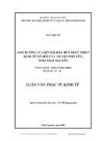Luận văn: ẢNH HƯỞNG CỦA ĐÔ THỊ HÓA ĐẾN PHÁT TRIỂN KINH TÊ XÃ HÔI CỦA HUYỆN PHỔ YÊN TỈNH THÁI NGUYÊN