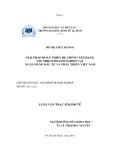 Luận văn: Giải pháp hoàn thiện xếp hạng tín nhiệm doanh nghiệp tại ngân hàng đầu tư và phát triển Việt Nam