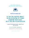Luận văn: Hệ thống thông tin kế toán tại công ty TNHH Maersk Việt Nam - Thực trạng và giải pháp