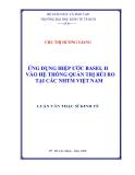 Luận văn: Ứng dụng hiệp ước quốc tế Basel II vào hệ thống quản trị rủi ro của các NHTM Việt Nam