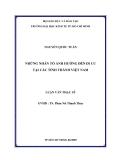 Luận văn: NHỮNG NHÂN TỐ ẢNH HƯỞNG ĐẾN DI CƯ TẠI CÁC TỈNH THÀNH VIỆT NAM