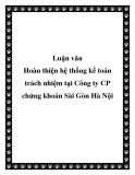 Luận văn: Luận văn Hoàn thiện hệ thống kế toán trách nhiệm tại Công ty CP chứng khoán Sài Gòn Hà Nội