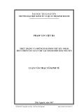 Luận văn: THỰC TRẠNG VÀ NHỮNG GIẢI PHÁP CHỦ YẾU NHẰM PHÁT TRIỂN SẢN XUẤT CHÈ TẠI THÀNH PHỐ THÁI NGUYÊN